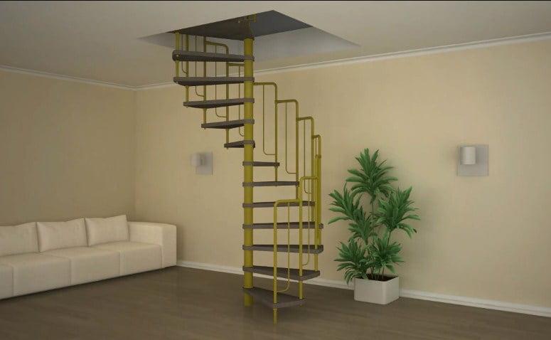 Сборная лестница на второй этаж – удобное и практичное приспособление