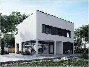 дом куб с плоской крышей