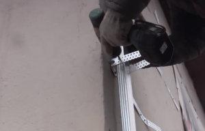 металлический каркас сайдинга, стойка