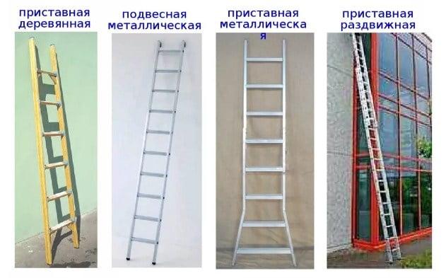 Приставные лестницы — размеры по правилам тб и ограничения