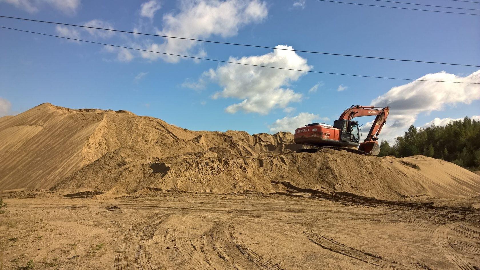 карьерный песок, добыча
