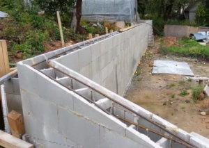 несъемная опалубка из бетона, стена