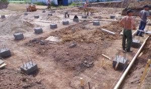 столбчатый фундамент, строительство