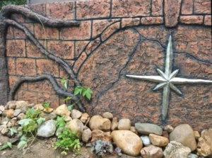 отделка цоколя декоративным бетоном