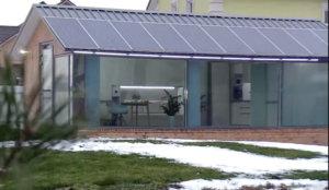 дом с пассивным отоплением, большие окна