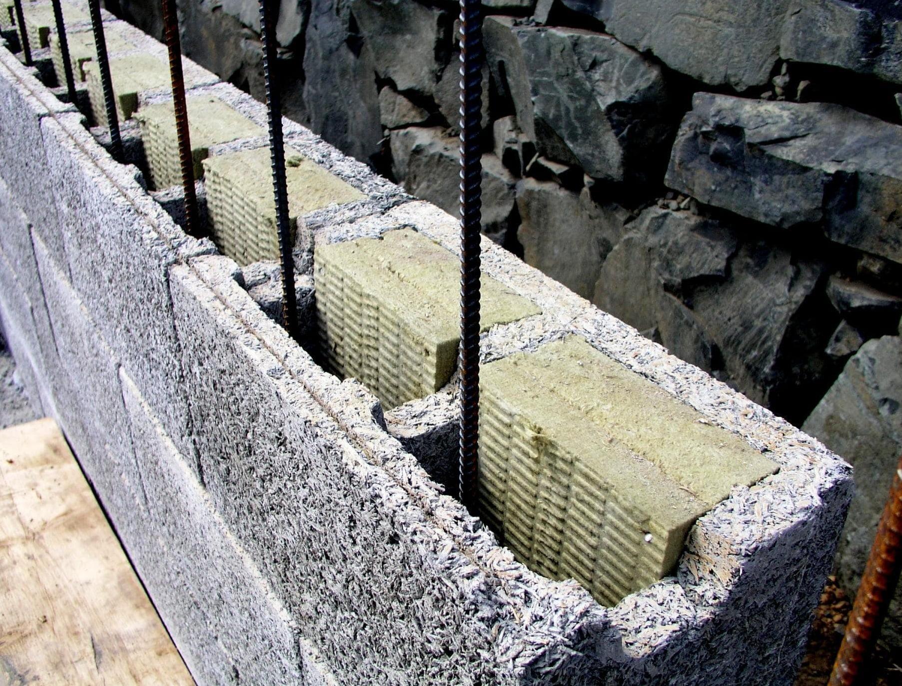 блоки из арболита - несъемная опалубка