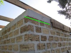 стена из ракушечника, армопояс