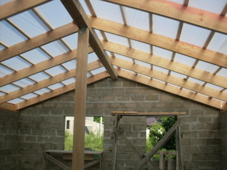каркас крыши готов